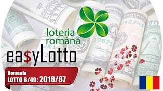 Romania Lottery Lotto 649 4 Nov 2018