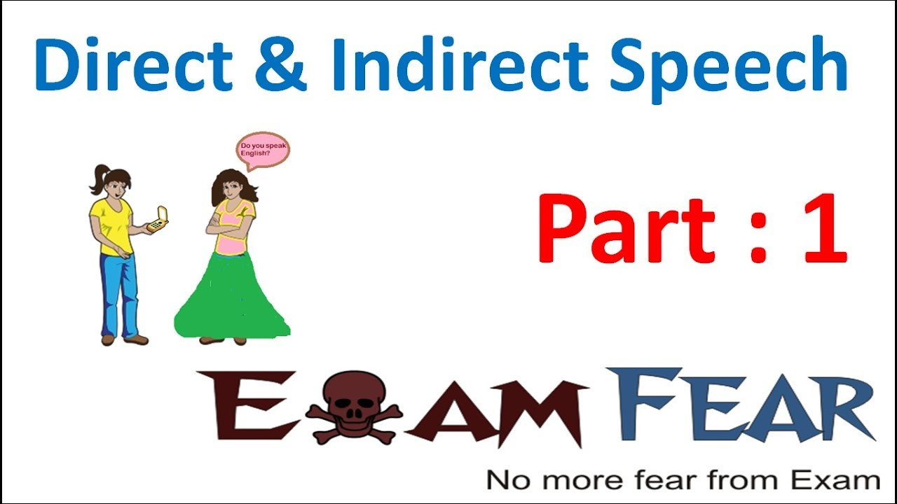 hight resolution of English Grammar Direct Indirect Speech (English) Part 1 : Introduction -  YouTube