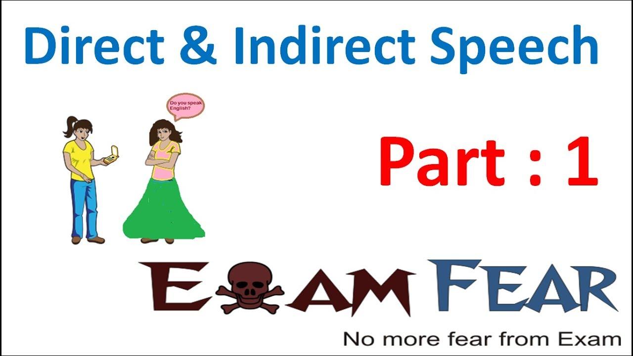 medium resolution of English Grammar Direct Indirect Speech (English) Part 1 : Introduction -  YouTube