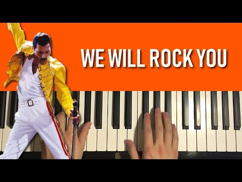 HOW TO PLAY - Queen - We Will Rock You (Piano Tutorial Lesson)