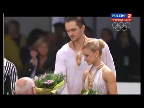Volosozhar-Trankov Stolbova-Klimov Bazarova-Larionov, Церемония - Ceremony European champions 2014
