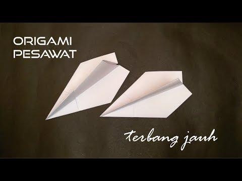 Origami Pesawat Terbang Jauh Mudah