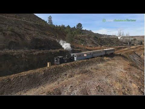 Tren turístico en el Parque Minero de Riotinto. Huelva