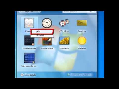 How to add a Gadget to the Desktop in Windows 7