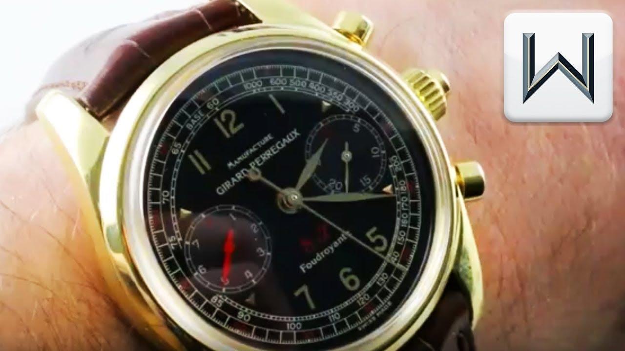 Girard Perregaux Scuderia Ferrari Foudroyante Chronograph 9020 Luxury Watch Review Youtube