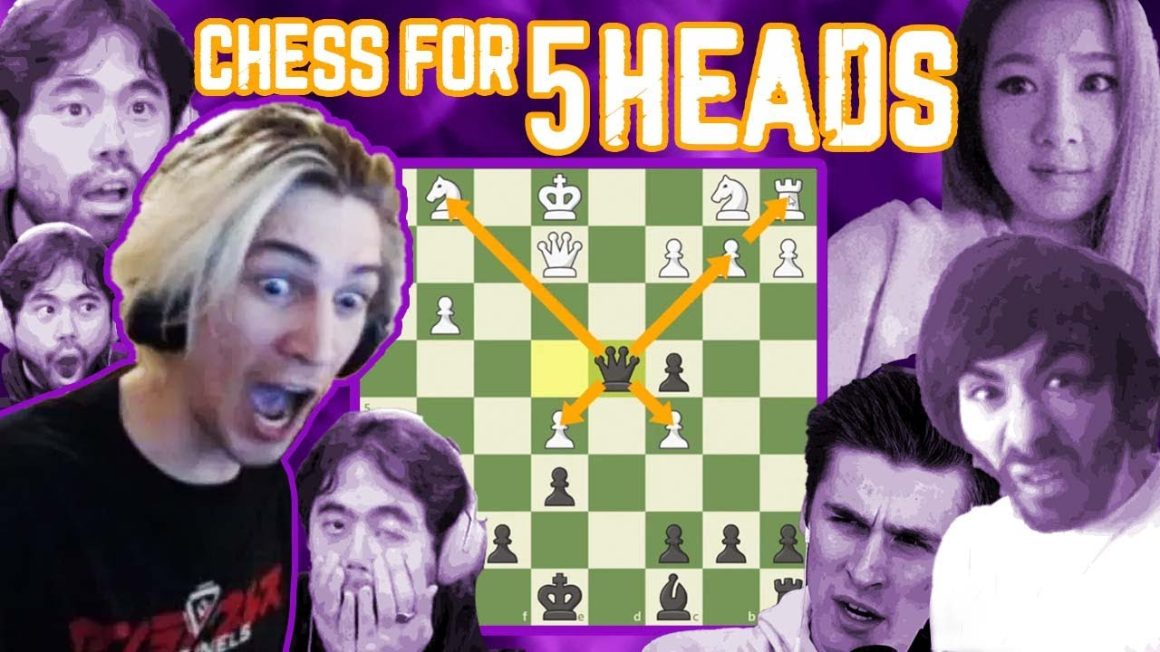 Chess for 5Heads: xQc, Hikaru, Wooden Shield, & More - YouTube