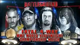 John Cena vs Roman Reigns vs Randy Orton vs Kane Highlights - Battleground 2014