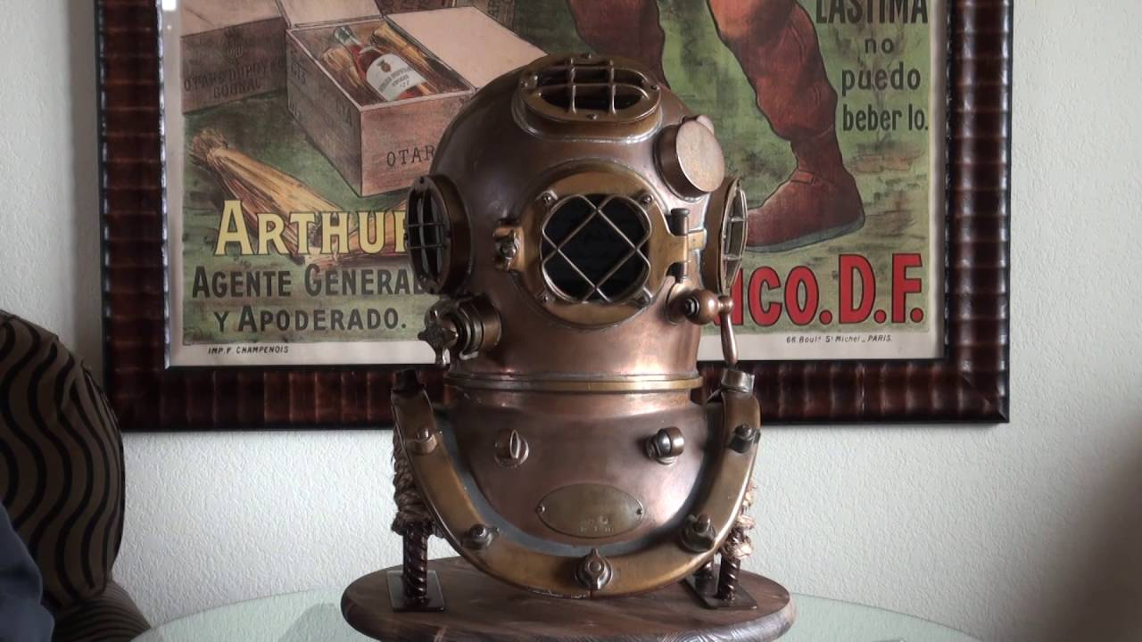 1944 Us Navy Mark V Antique Diving Helmet For Sale