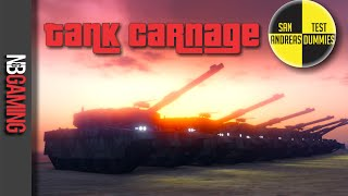 One of N&B Gaming's most viewed videos: GTA5 Tank Carnage - San Andreas Test Dummies Ep. 47 - GTA5 Funny Moments and Stunts