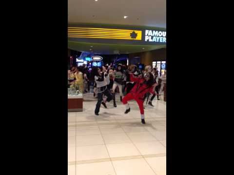 Thriller FLASHMOB St.Vital Center 2014. Zumbawithkarla! Happy Halloween