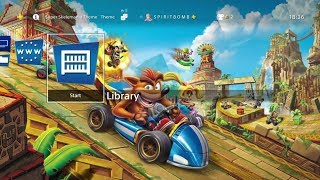 CTR: Nitro-Fueled - The Race Is On Dynamic Free PS4 Theme