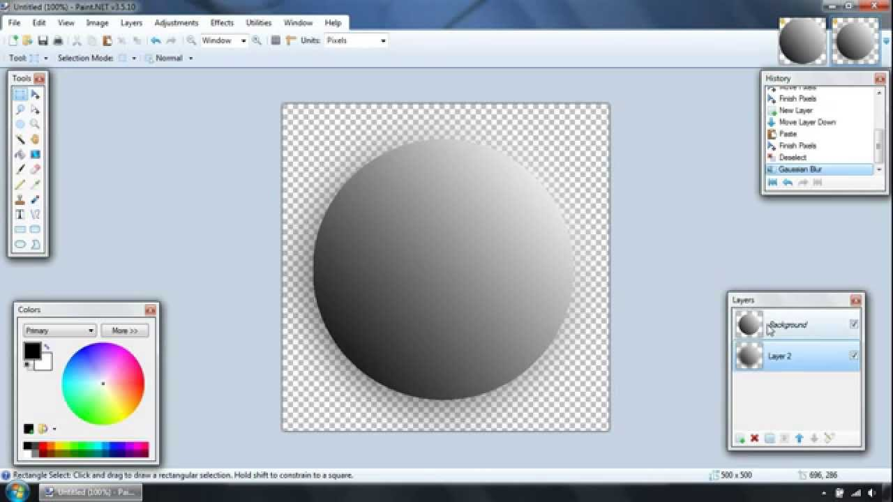 How To Make A Circle In Paint Net