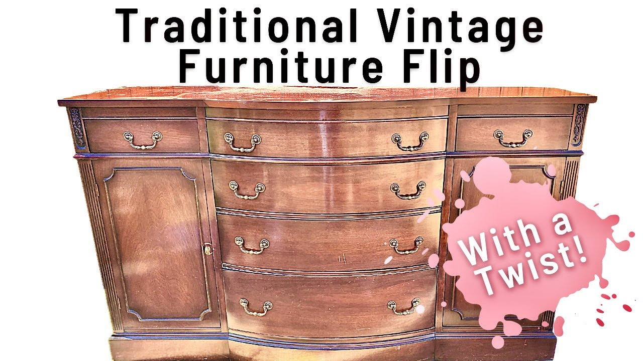Extra Fun Furniture Flip | Don't Miss This One | Classic Traditional | Vintage