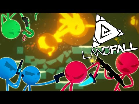 STICK FIGHT! Hilarious Battles Landfall & TABS New ! (Stick Fight Multiplayer play Part 1)