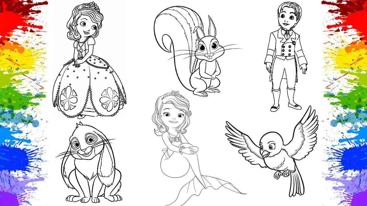 Video De Adivinhar Desenhos Da Princesa Sofia Jogos De Pintar