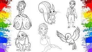 Video de Adivinhar Desenhos da Princesa Sofia | Jogos de Pintar | Desenho animado | Video infantil