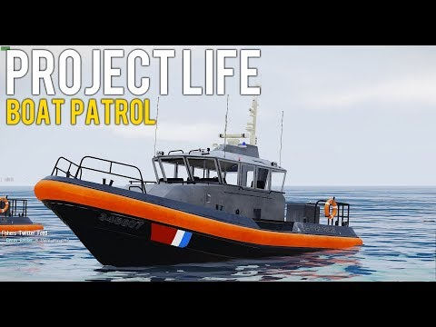 Arma 3: Project Life (Coast Guard) - Boat Patrol & Checking Licenses