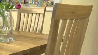 "4ft X 2ft 8"" Solid Oak Dining Table With 4 Solid Oak High Back Chairs From Oak Furniture Land"