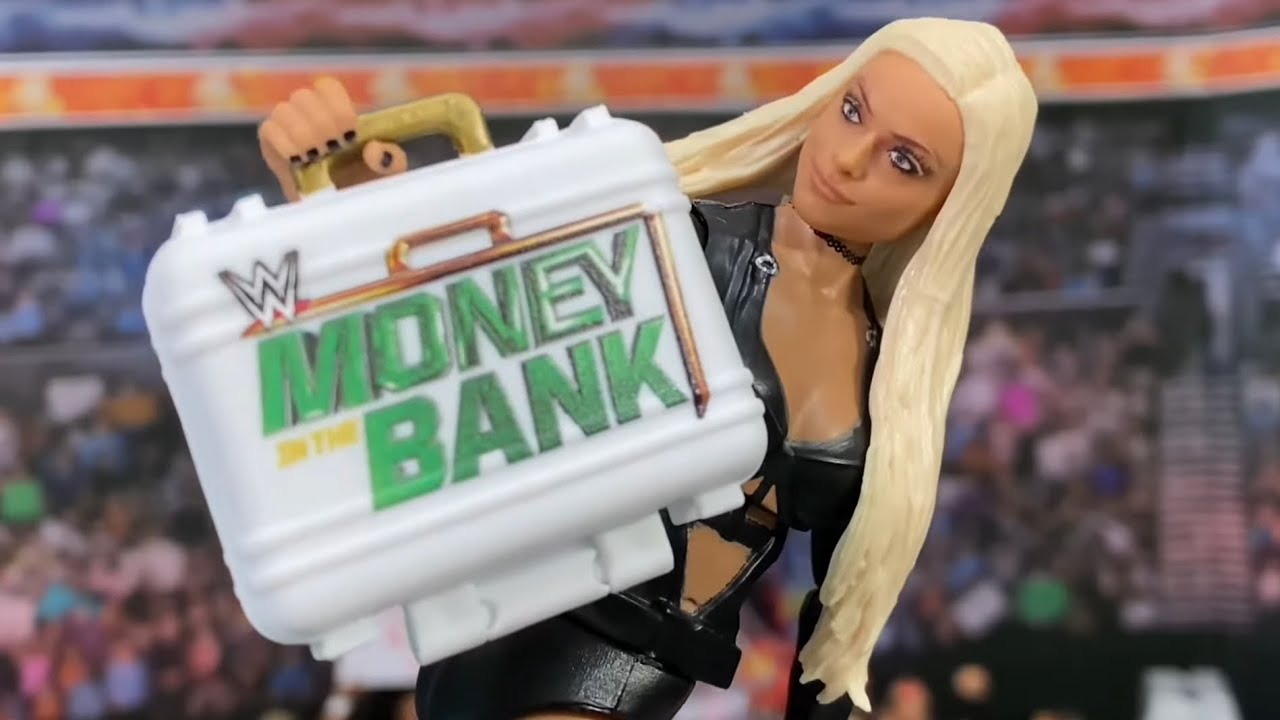 WOMEN'S MONEY IN THE BANK WWE ACTION FIGURE LADDER MATCH! 2021 FINAL MOMENTS!