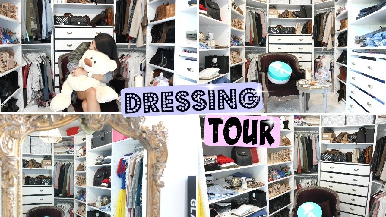 dressing tour astuces rangement et organisation dressing youtube. Black Bedroom Furniture Sets. Home Design Ideas