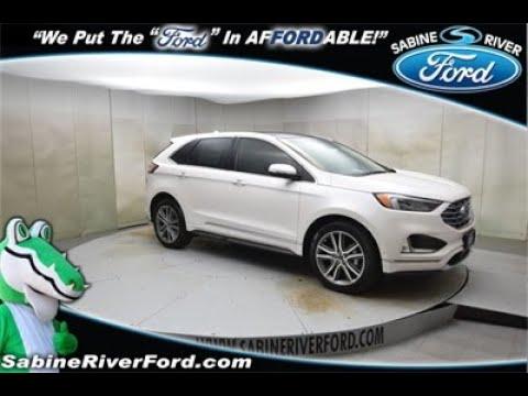 2019 Ford Edge Titanium Sport Utility White Platinum Metallic Tri-Coat #7595