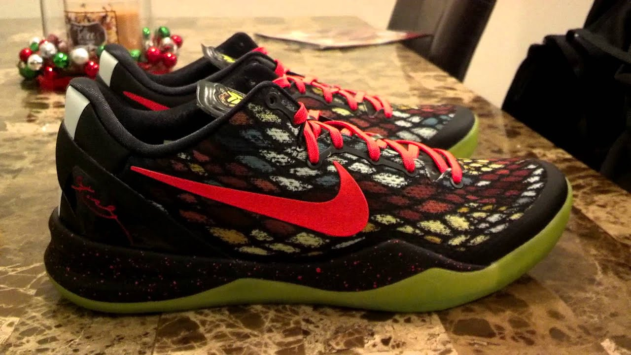 Nike Kobe 8 System Christmas Shoes - YouTube