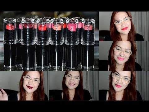 Wet N Wild Megalast Lip Color Swatches - YouTube