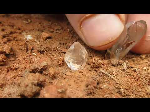 3-21-17 pt.1   More crystals continue through stringer veins.