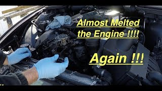 Just Wrecking Engines !!! New E39 Thermostat Failure Almost Blew  Engine !!!