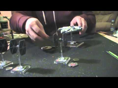 11th Legion Presents: X-Wing Miniatures Game: Millennium Falcon Unboxing & BatRep (2 of 4)