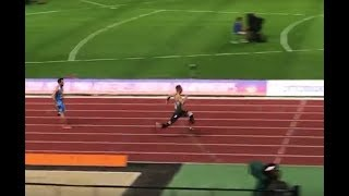 【Para Athletics】FLOORS Johannes T64 men 100m heat2 (+0.2) : Berlin 2018 WPA European Championships