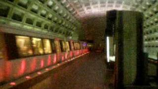 CAF Trains enter Farragut West Station Washington Metro
