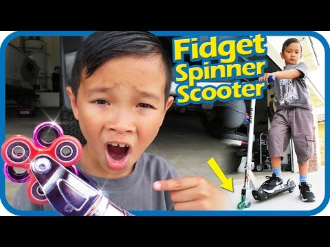 Thumbnail: FIDGET SPINNER Scooter Wheels 1000mph Will It Work? Scooter Tricks, TigerBox HD
