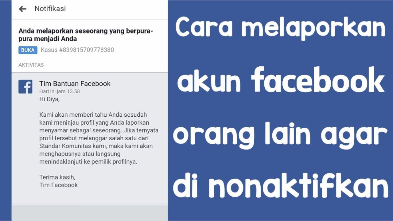 Cara Melaporkan Akun Facebook Orang Lain Agar Di Nonaktifkan Youtube