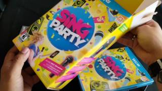 Unboxing Wii U Sing Party + Wii U Microphone