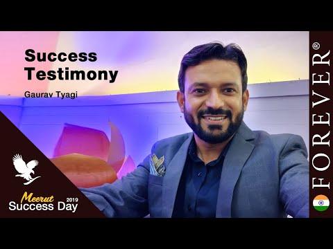 Business Testimony by Gaurav Tyagi at Meerut Success Day