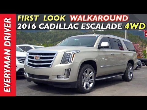 First Look Walkaround 2016 Cadillac Escalade 4WD on Everyman Driver
