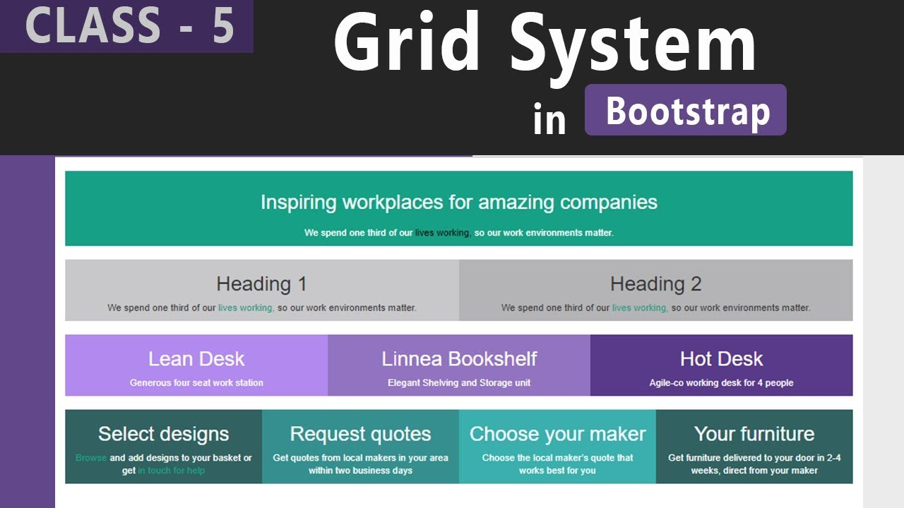 Grid System In Bootstrap Bootstrap Tutorials For Beginners In
