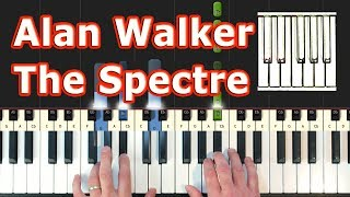 Alan Walker - The Spectre - Piano Tutorial - Sheet Music (Synthesia)