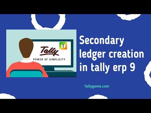 secondary ledger creation , create ledger from voucher screen