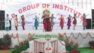 K.D  College of Nursing Mahilpur presents Dandiya by G.N.M Students.mp4
