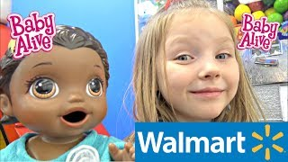 BABY ALIVE makes a VLOG! TRIP to WALMART! The Lilly and Mommy Show. The TOYTASTIC Sisters. SKIT