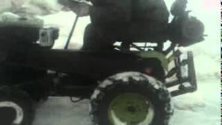 мой мини трактор из мотоблока зубр