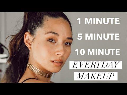 1, 5, 10 Minute Makeup Tutorial | Quick Everyday Looks | Aja Dang
