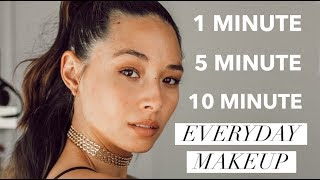 1, 5, 10 Minute Makeup Tutorial | Quick Everyday Looks | Aja Dang