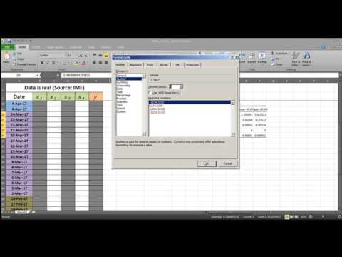 How To Predict A Currency Using Ms. Excel ?
