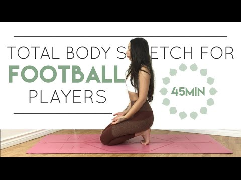 Yoga For Football Players 🏈 Total Body Stretch | Athlete Series