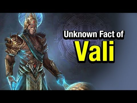 Unknown Fact of Vali  | Vali In Ramayana | Artha | AMAZING FACTS