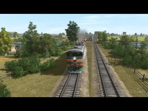 Trainz Railroad Simulator 2019 Balezino-Mosti (Krutoborka-Mosti Freight Train