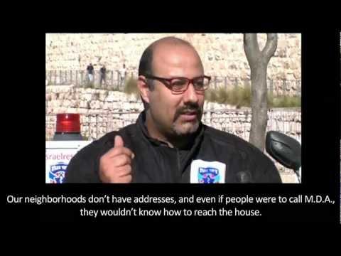 Walla TV Israel-Muhammed Asali from Abu Tur volunteers with United Hatzalah